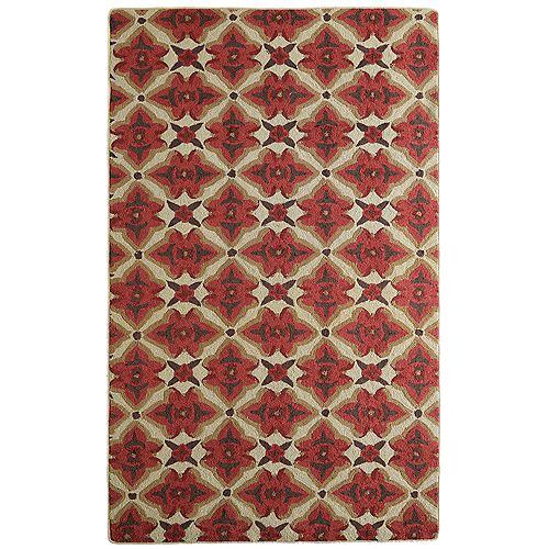 Lanart Rug Muskoka Red 9 ft. x 12 ft. Indoor Transitional Rectangular Area Rug