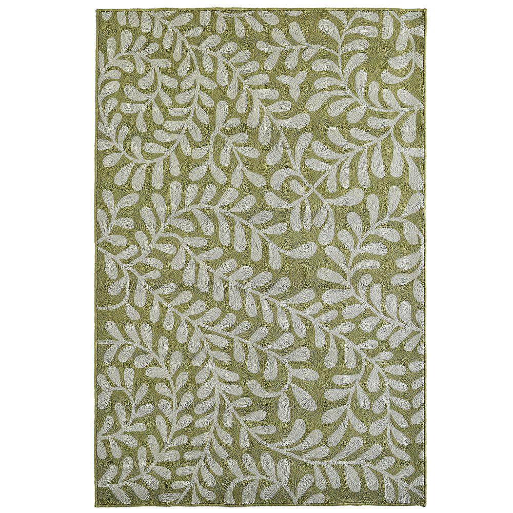 Lanart Rug Carpette d'intérieur, 9 pi x 12 pi, style transitionnel, rectangulaire, vert Fiona