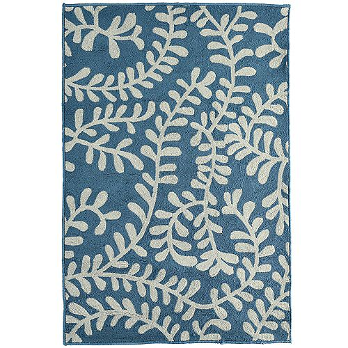 Lanart Rug Fiona Blue 4 ft. x 6 ft. Indoor Transitional Rectangular Area Rug