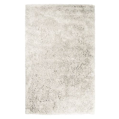 Lanart Rug Kashmir Off-White 4 ft. x 6 ft. Indoor Shag Rectangular Area Rug