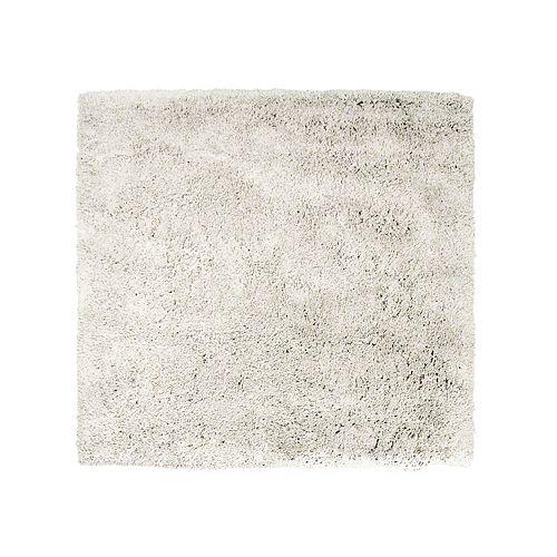 Lanart Rug Kashmir Off-White 5 ft. x 5 ft. Indoor Shag Square Area Rug