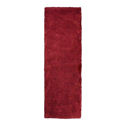 Lanart Rug Kashmir Red 2 ft. 6-inch x 8 ft. Indoor Shag Runner