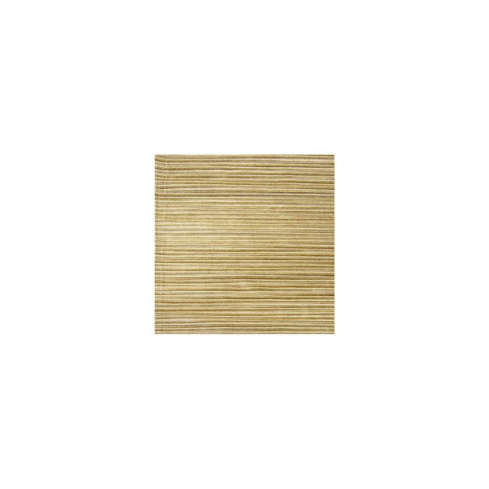 Lanart Rug Carpette, 8 pi x 8 pi, carrée, havane Candy
