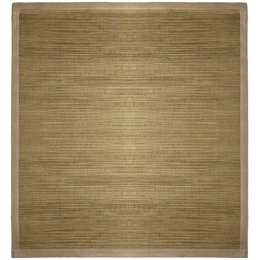 Lanart Rug Carpette d'intérieur, 4 pi x 4 pi, tissage texturé, carré, havane Flamenco