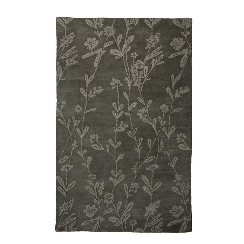 Lanart Rug Carpette d'intérieur, 4 pi x 6 pi, style transitionnel, rectangulaire, gris Wisteria