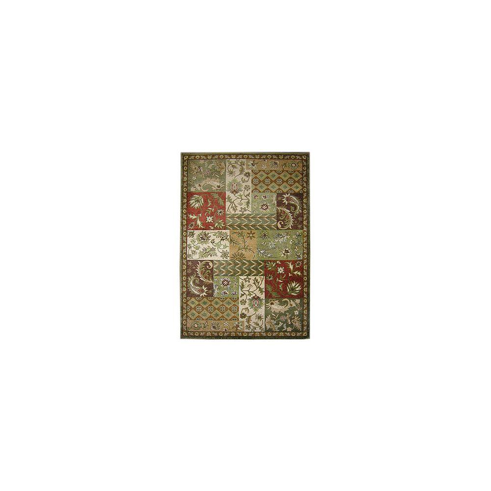 Lanart Rug Carpette, 5 pi x 7 pi 6 po, rectangulaire, vert Prairie Patchwork