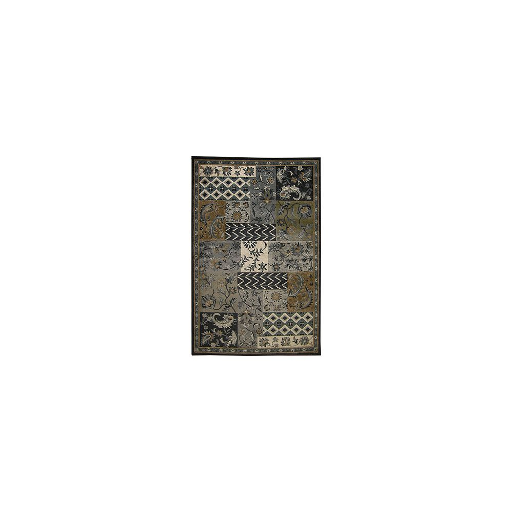 Lanart Rug Carpette, 7 pi 8 po x 10 pi, rectangulaire, gris Midnight Patchwork