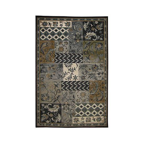 Lanart Rug Midnight Patchwork Grey 7 ft. 8-inch x 10 ft. Rectangular Area Rug
