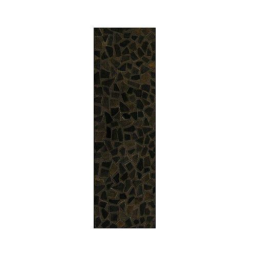 Lanart Rug Hide Mosaic Brown 2 ft. 6-inch x 8 ft. Runner