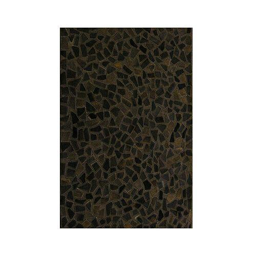 Lanart Rug Hide Mosaic Brown 4 ft. x 6 ft. Rectangular Area Rug