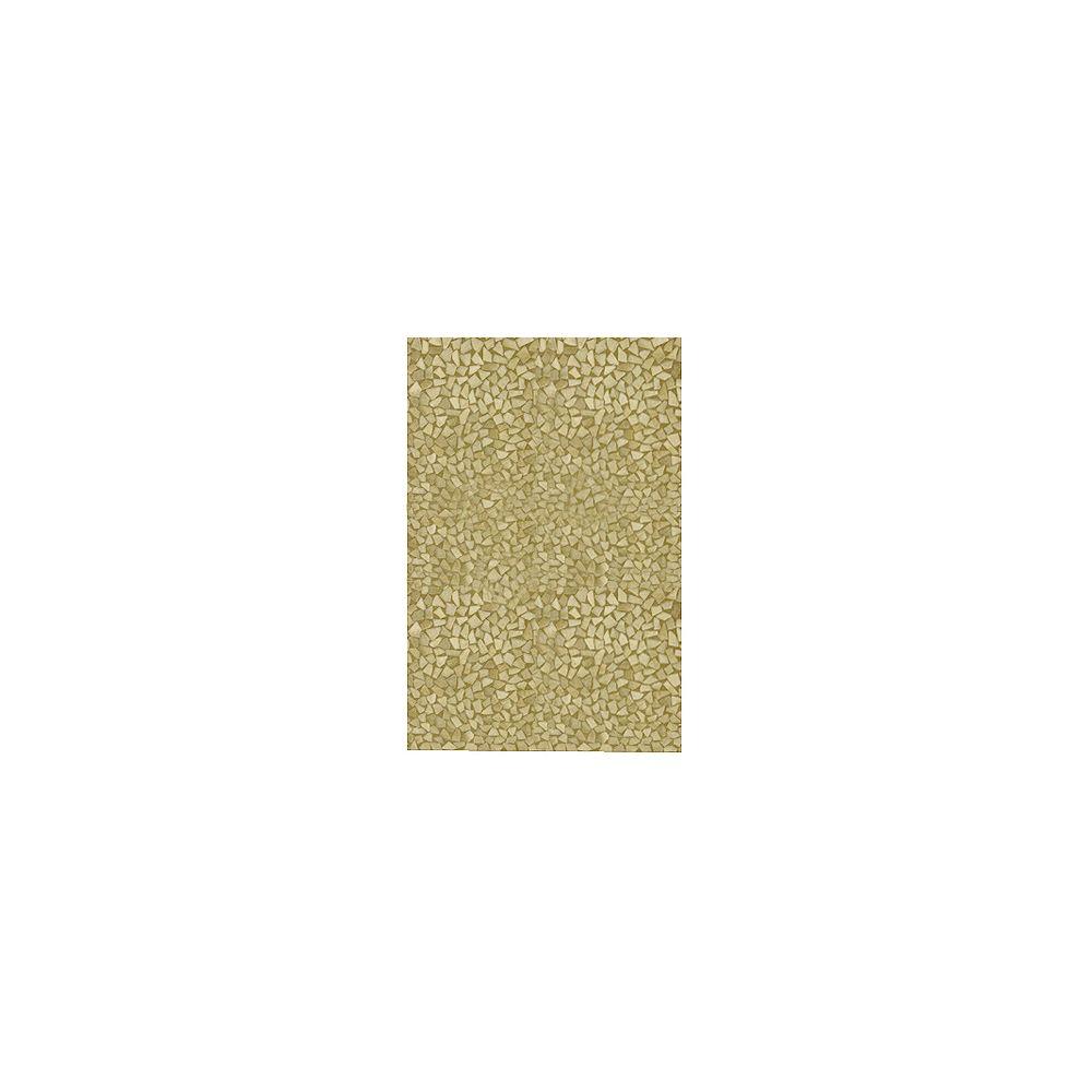 Lanart Rug Carpette, 8 pi x 10 pi, rectangulaire, havane Hide Mosaic