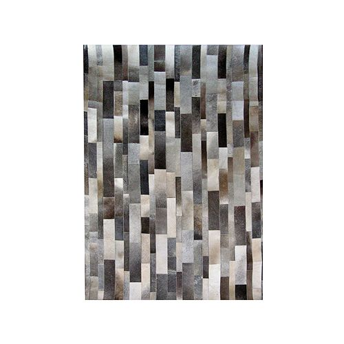 Lanart Rug Hide Grey 9 ft. x 12 ft. Indoor Contemporary Rectangular Area Rug