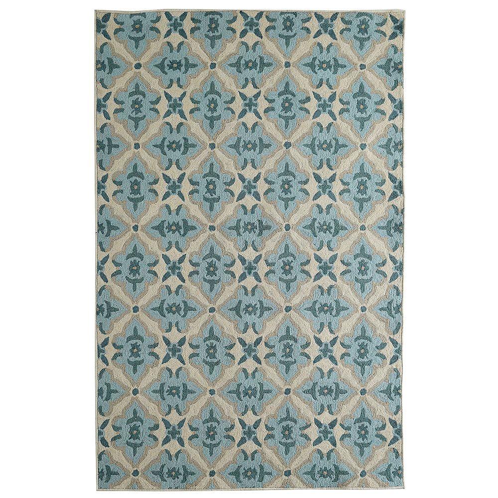 Lanart Rug Carpette d'intérieur, 9 pi x 10 pi, style transitionnel, rectangulaire, bleu porcelain Muskoka