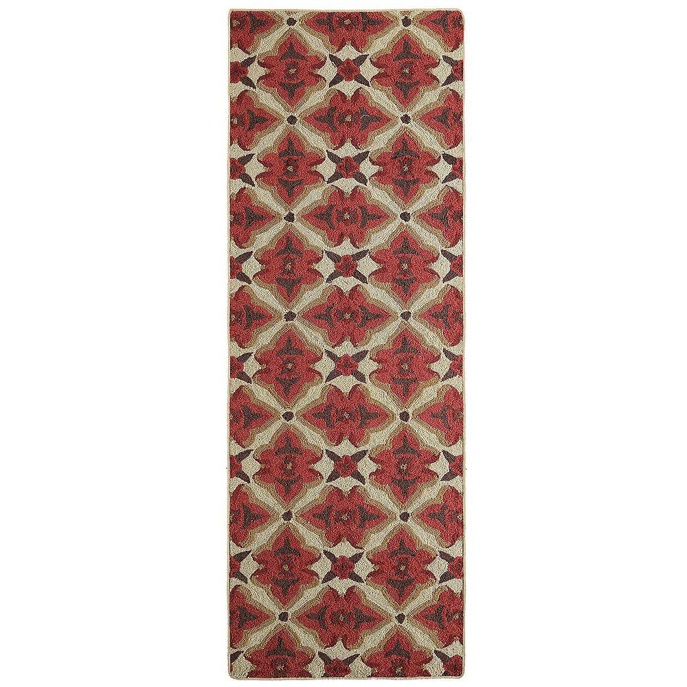 Lanart Rug Tapis de passage d'intérieur, 2 pi 6 po x 8 pi, style transitionnel, rouge Muskoka