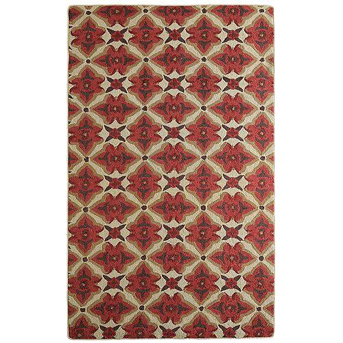 Lanart Rug Muskoka Red 5 ft. x 7 ft. 6-inch Indoor Transitional Rectangular Area Rug