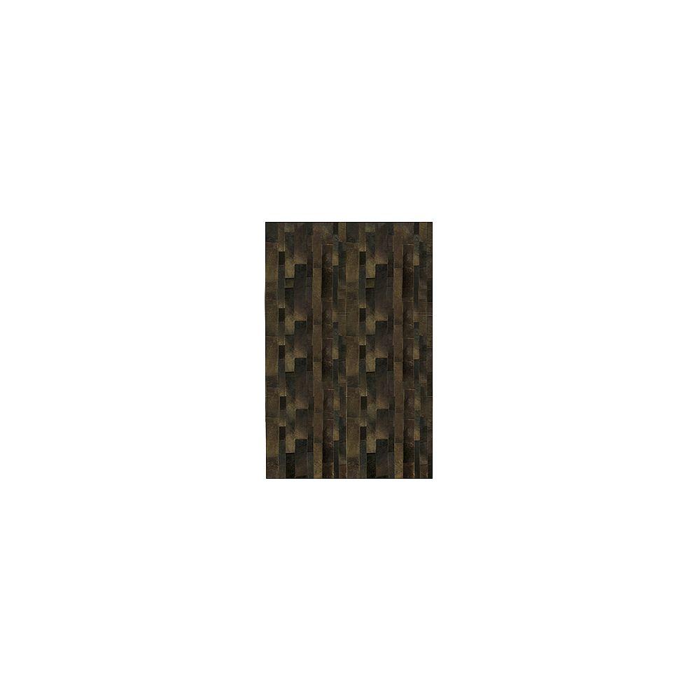 Lanart Rug Carpette, 4 pi x 6 pi, rectangulaire, brun Hide