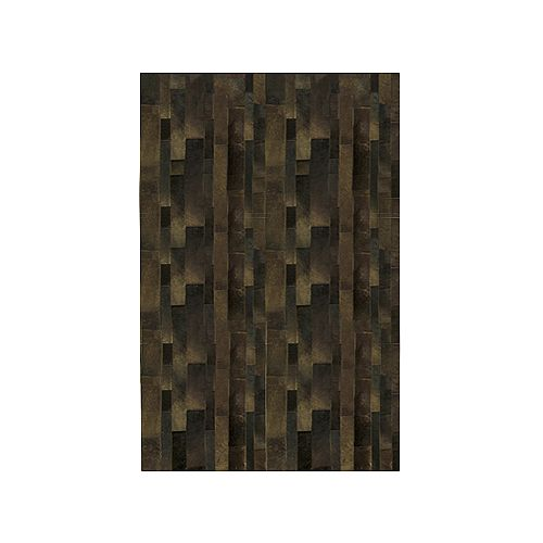 Lanart Rug Hide Brown 4 ft. x 6 ft. Rectangular Area Rug