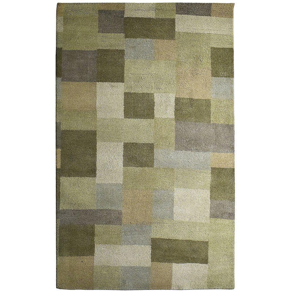 Lanart Rug Carpette d'intérieur, 3 pi x 4 pi 6 po, style contemporain, rectangulaire, vert Prairie Highlands