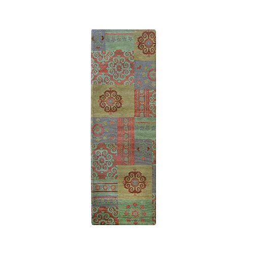 Lanart Rug Gem Gypsy Green 2 ft. 6-inch x 8 ft. Indoor Contemporary Runner
