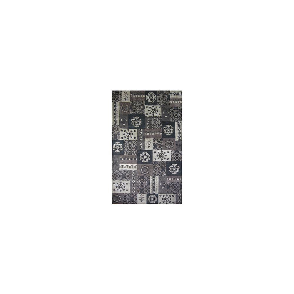 Lanart Rug Carpette, 4 pi x 6 pi, rectangulaire, gris Gypsy