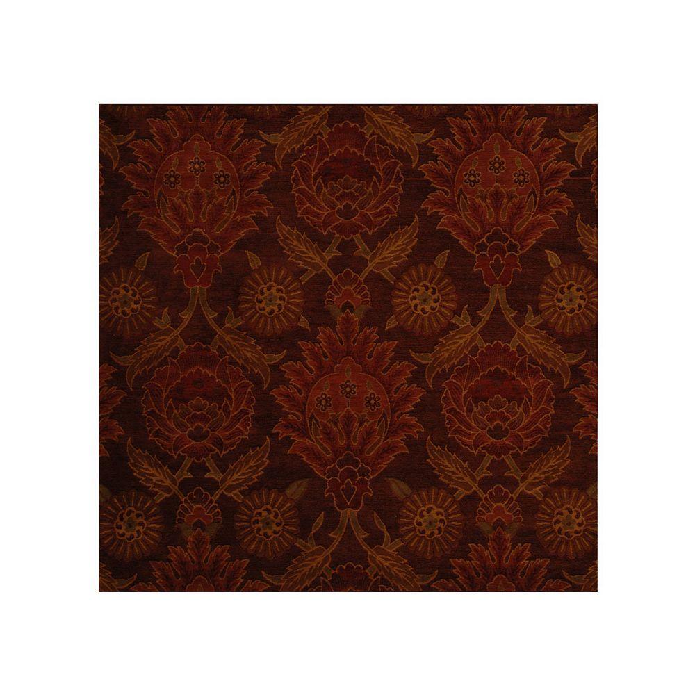 Lanart Rug Carpette d'intérieur, 4 pi x 4 pi, style transitionnel, carrée, rouge Jewel