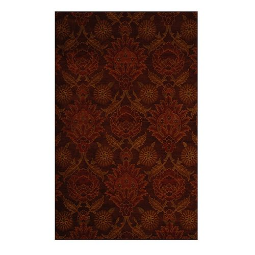 Lanart Rug Jewel Red 4 ft. x 6 ft. Indoor Transitional Rectangular Area Rug