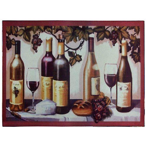 Paillasson rectangulaire d'intérieur/extérieur Wines, 1pi6po x 2pi6po