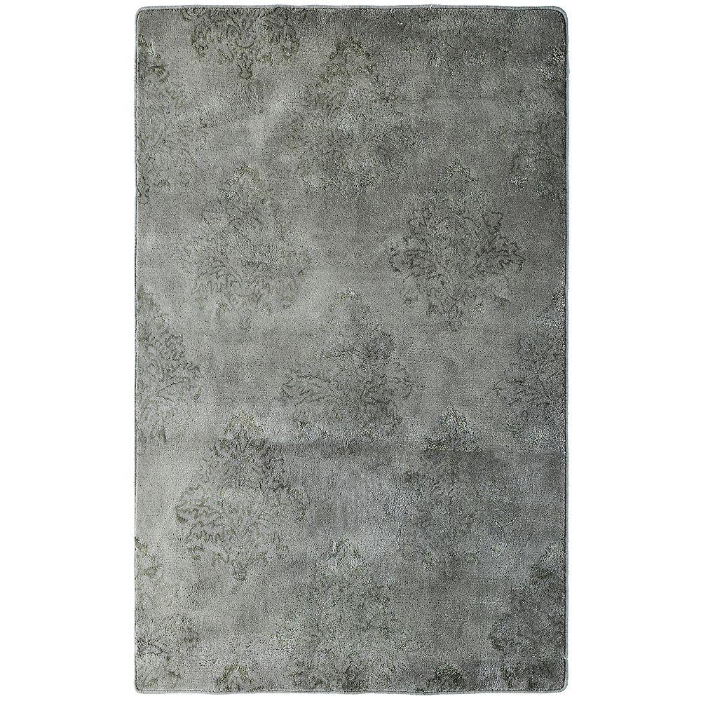Lanart Rug Carpette d'intérieur, 9 pi x 12 pi, style transitionnel, rectangulaire, gris Taj Mahal
