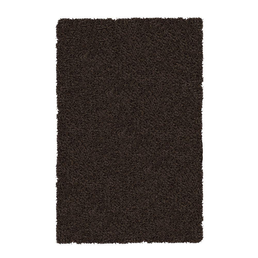Lanart Rug Carpette d'intérieur, 9 pi x 10 pi, à poils longs, rectangulaire, brun Shag-A-Liscious