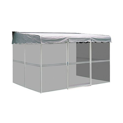 7 ft. 8-inch x 11 ft. 6-inch Screened Enclosure in White