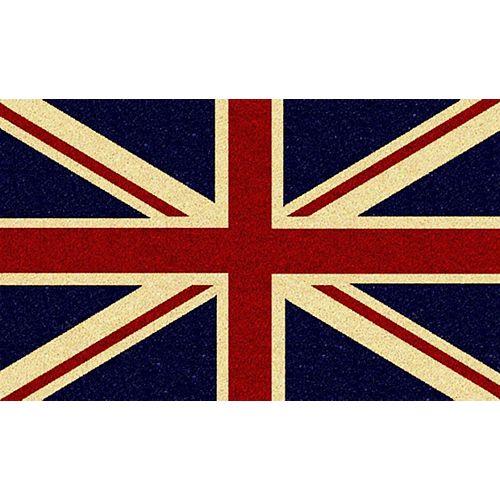 Paillasson Union Jack, 1 pi 4 po x 2 pi 4 po, rectangulaire, fibre de coco