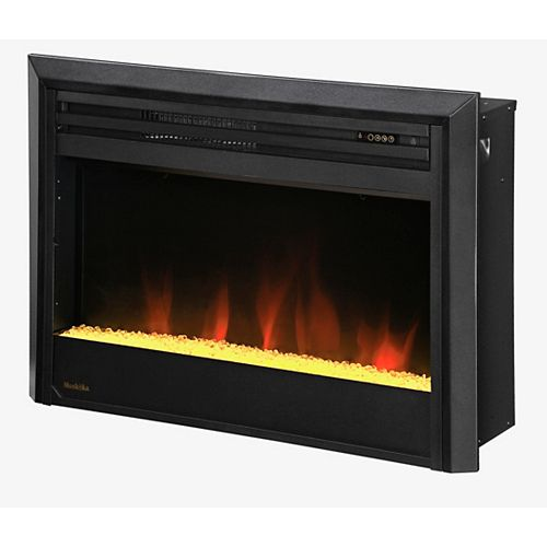 27-inch LED Electric Firebox with Crushed Glass and Trim