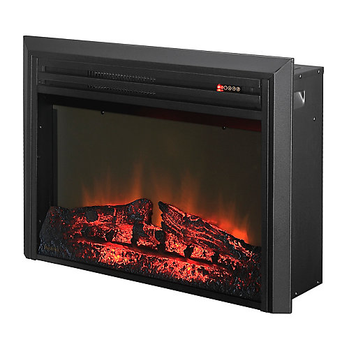 Muskoka 27 Inch LED Electric Firebox with Logs and Trim