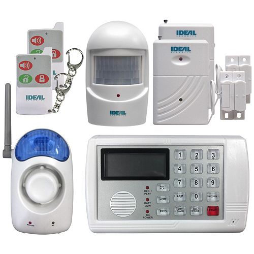Wireless, Self-Monitoring, Complete Security System and Alarm with Telephone Auto-Dialer DIY