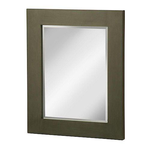 Foremost Miroir mural Weston à encadrement en peuplier de 71,12cm x 58,42cm (28po x 23po) en vert loden