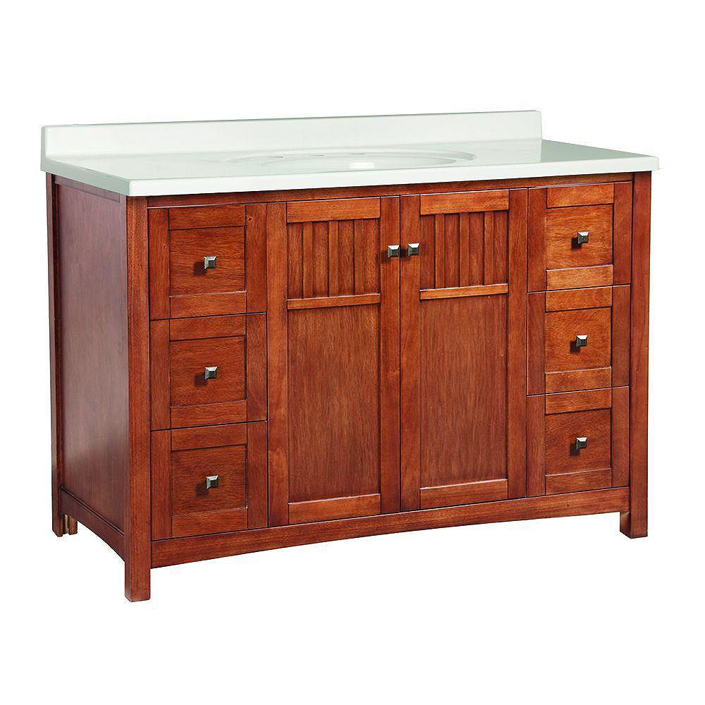 Foremost Knoxville 49-inch W x 22-inch D Vanity in Nutmeg ...