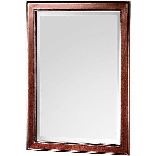 Miroir Hartford de 53,34cm (21po) L x 72,39 cm (28½po) H en noyer