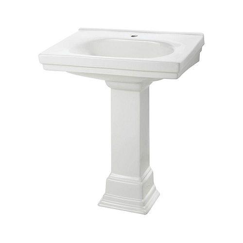 Foremost Cuvette de lavabo sur colonne Structure Suite de 52,39cm (20 5/8 po) en blanc