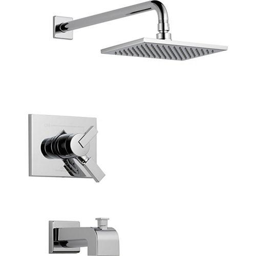 Vero - Garniture pour mitigeur de douche et baignoire, 1 jet, Chrome  (soupape vendue séparément)