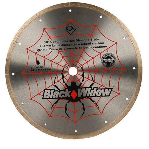 Black Widow 10-inch Porcelain, Ceramic, Marble and Granite Wet Cutting Diamond Blade
