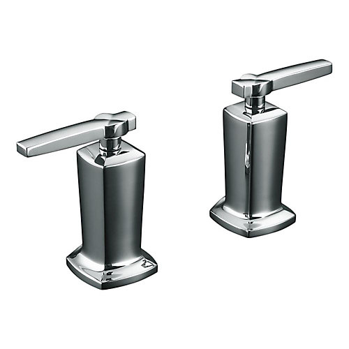 Robinetterie Margaux® avec poignees a levier pour robinet de baignoire a haut debit a montage