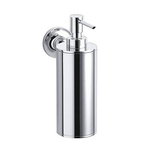 KOHLER Purist Wall-Mount Metal Soap Dispenser in Polished Chrome