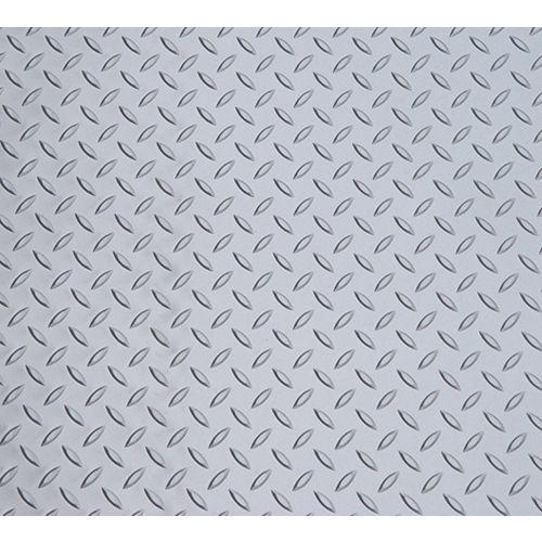Feuille de vinyle de 5 pi x 12 pi en argent métallique