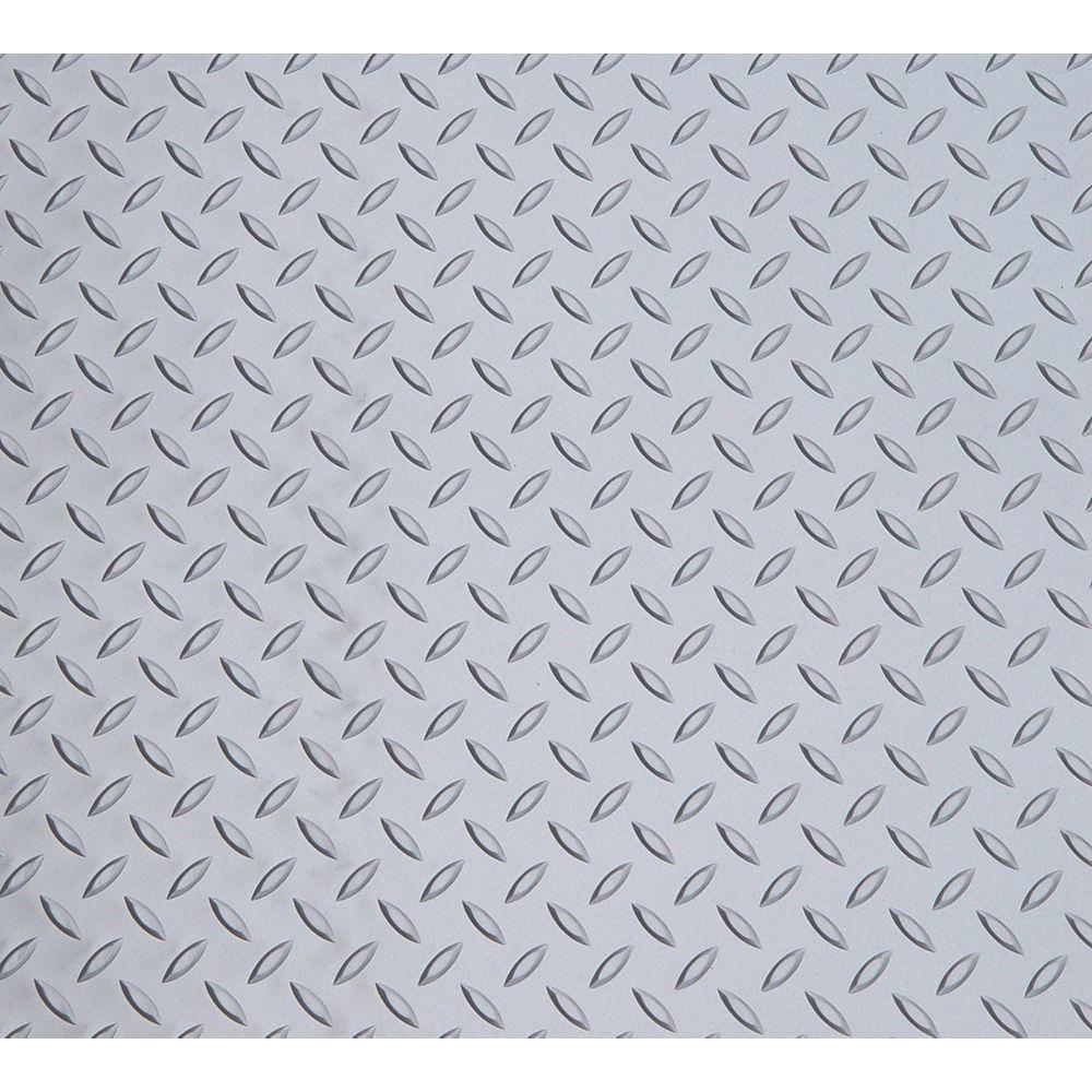 Diamond Deck Couvre-sol pour voiture compacte, argent métallique, 7,5 pi x 14 pi