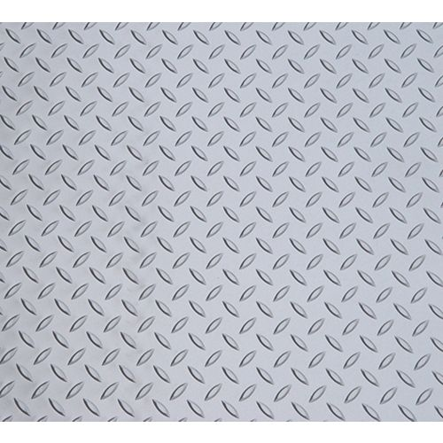 Diamond Deck 7.5 ft. x 24 ft. Vinyl Sheet in Metallic Silver