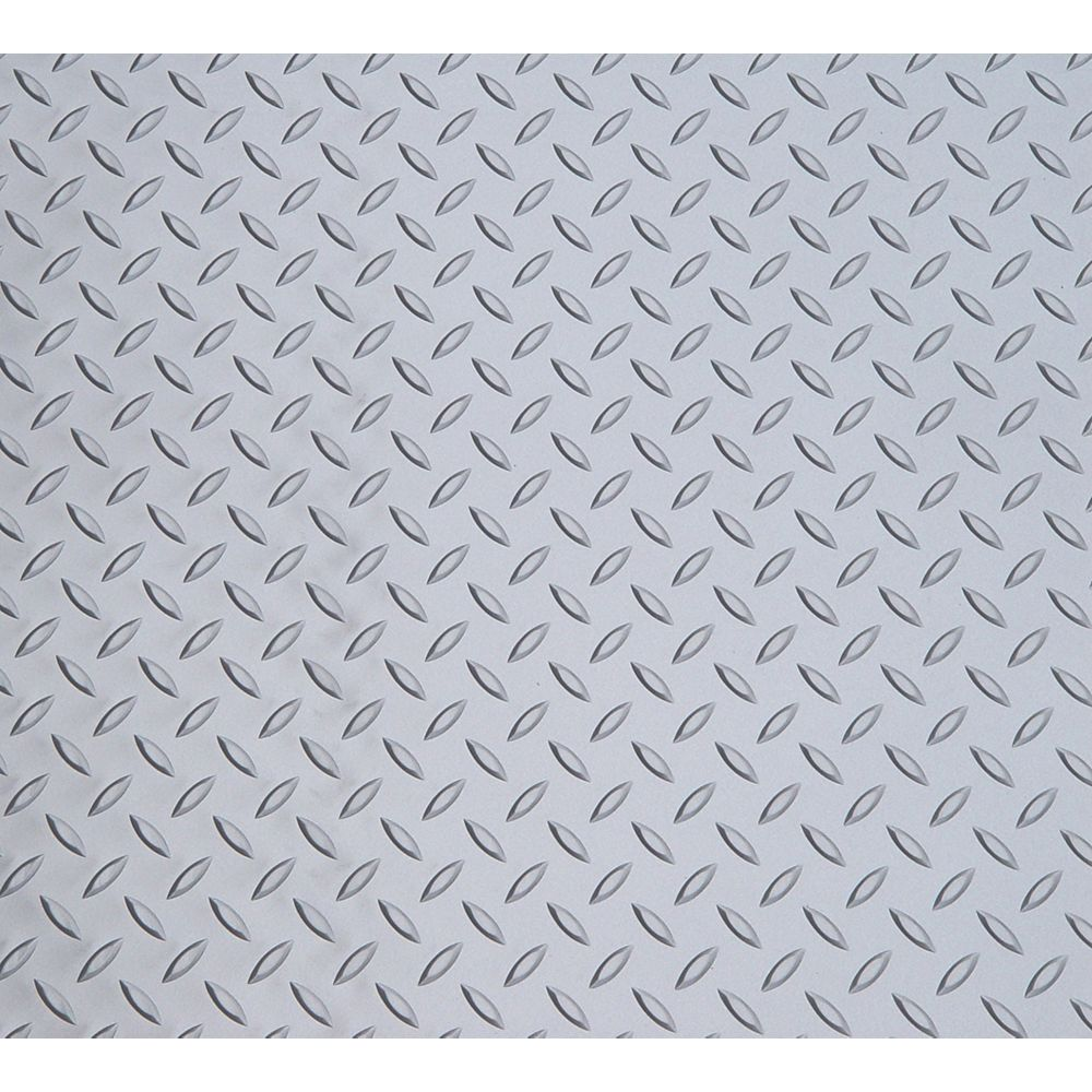 Diamond Deck Argent métallique, 7,5 pi x 26 pi