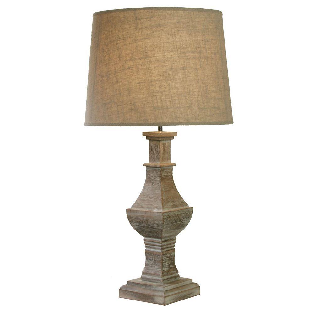 GEN-Lite Lampe De Table Vieux Bois Lubrique