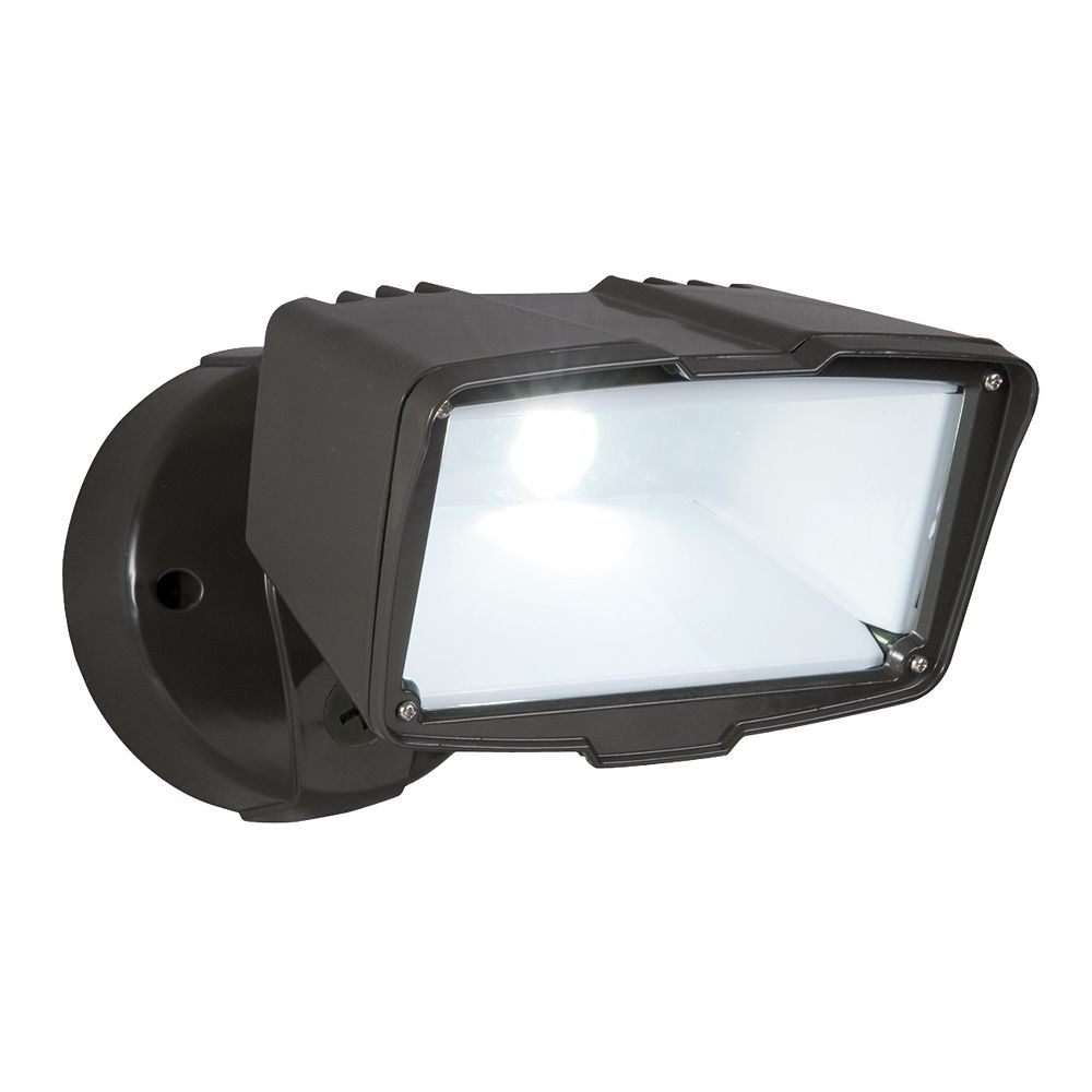 All Pro Outdoor Large Led Floodlight In Bronze The Home Depot Canada