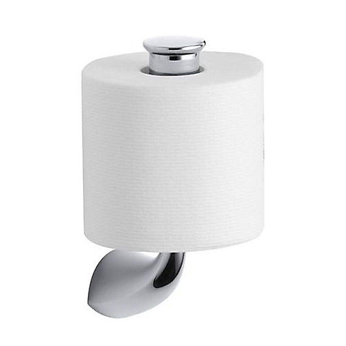 Alteo Vertical Single Post Toilet Paper Holder in Polished Chrome