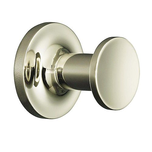 Purist Single Robe Hook in Vibrant Polished Nickel